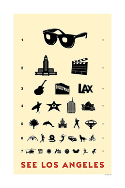 Los Angeles Eye Chart